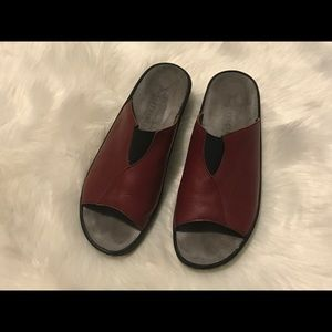 Mephisto Red Sandals Slides Size 40